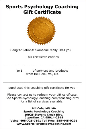 Sports psychology coaching products give a sports psychology coaching gift certificate yelopaper Image collections